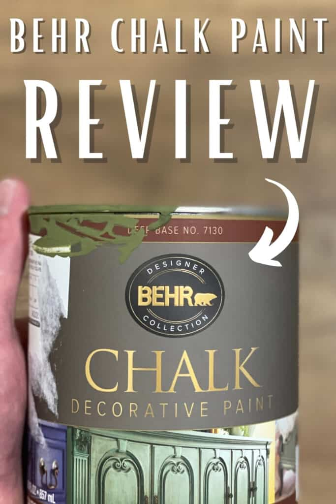 behr chalk paint review with paint can