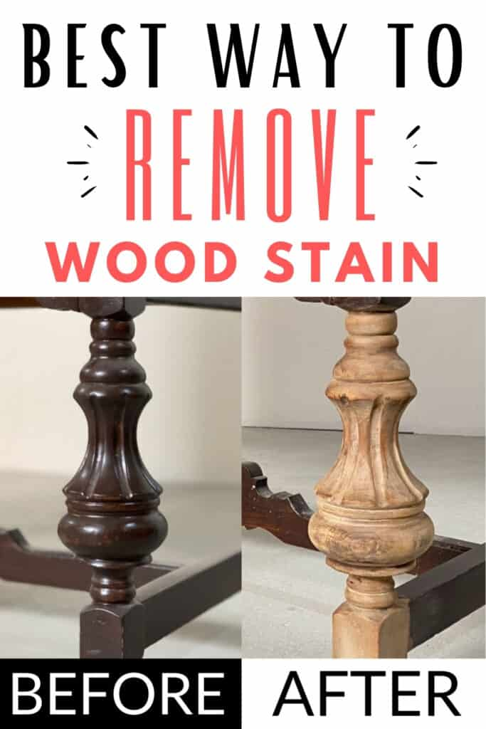 """best way to remove wood stain"" with before and after removing stain photos"