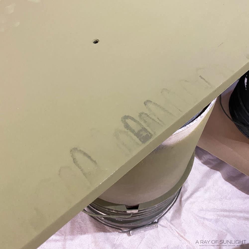 bleedthrough stain on the back of the door