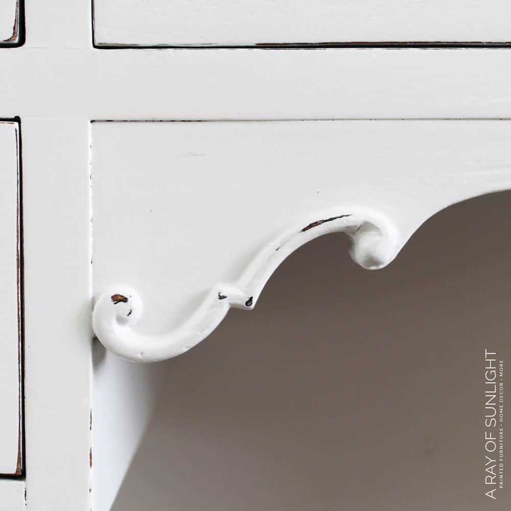 painted furniture repair with kwikwood