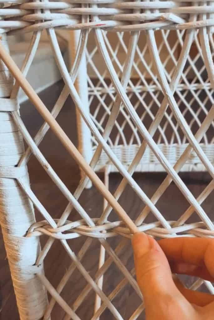 measuring new rattan