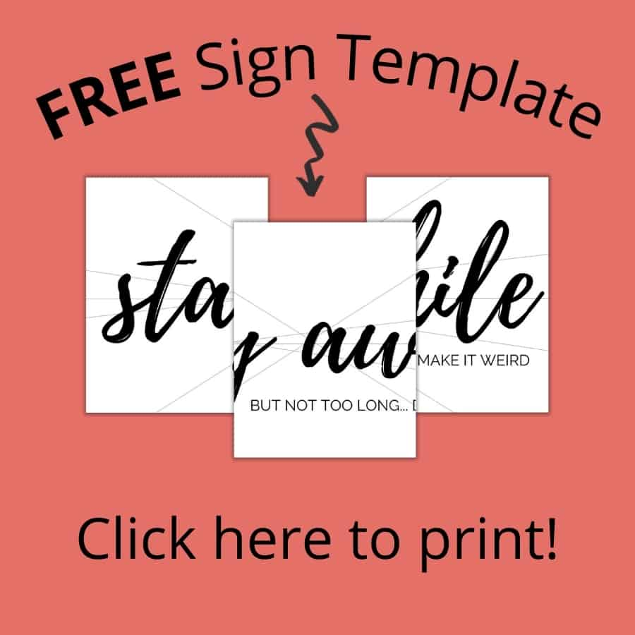 Free Sign Template - Click here to print!