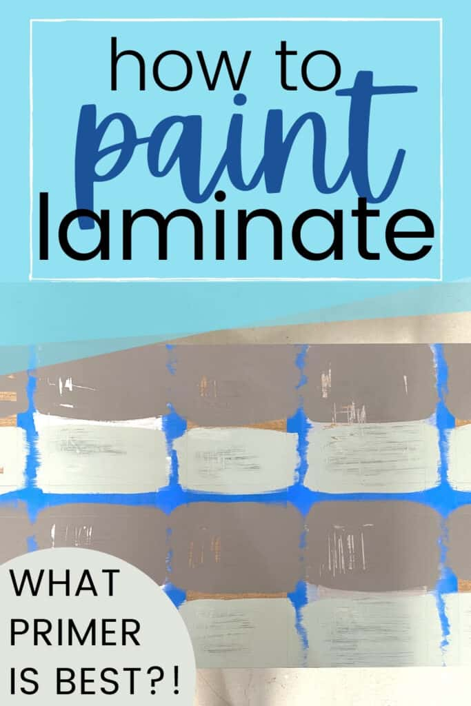 """how to paint laminate"""