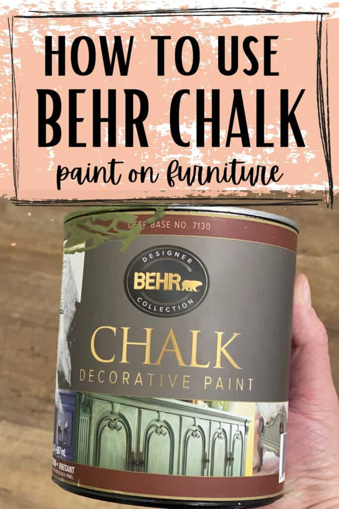 "behr chalk paint can -""how to use behr chalk paint on furniture"""