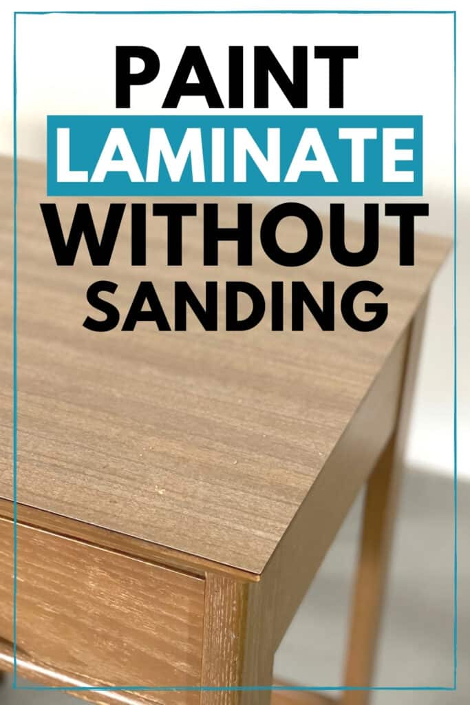 """paint laminate without sanding"" with laminate desk top"
