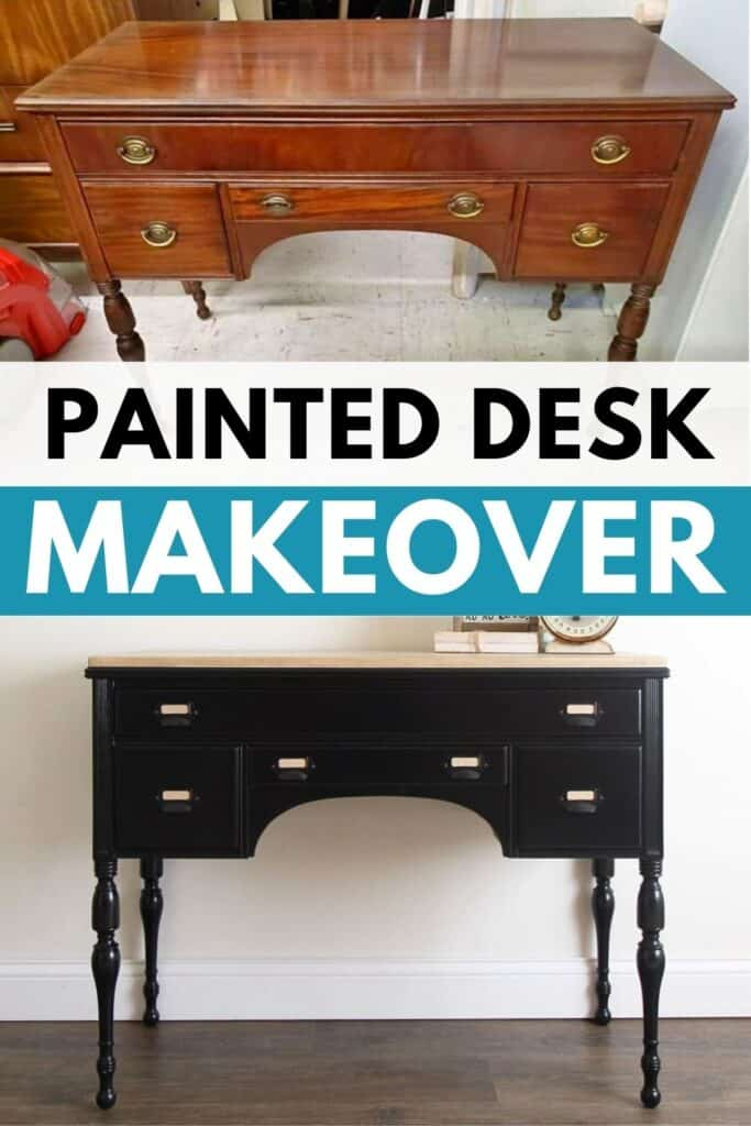 before and after desk makeover photos
