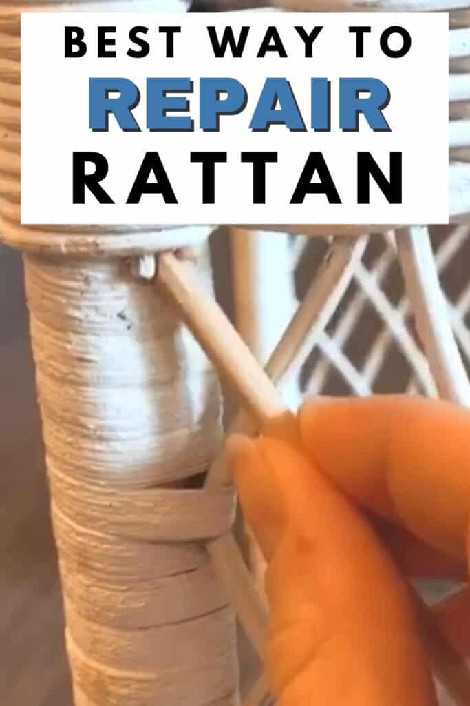 """""""closeup of best way to repair rattan"""""""