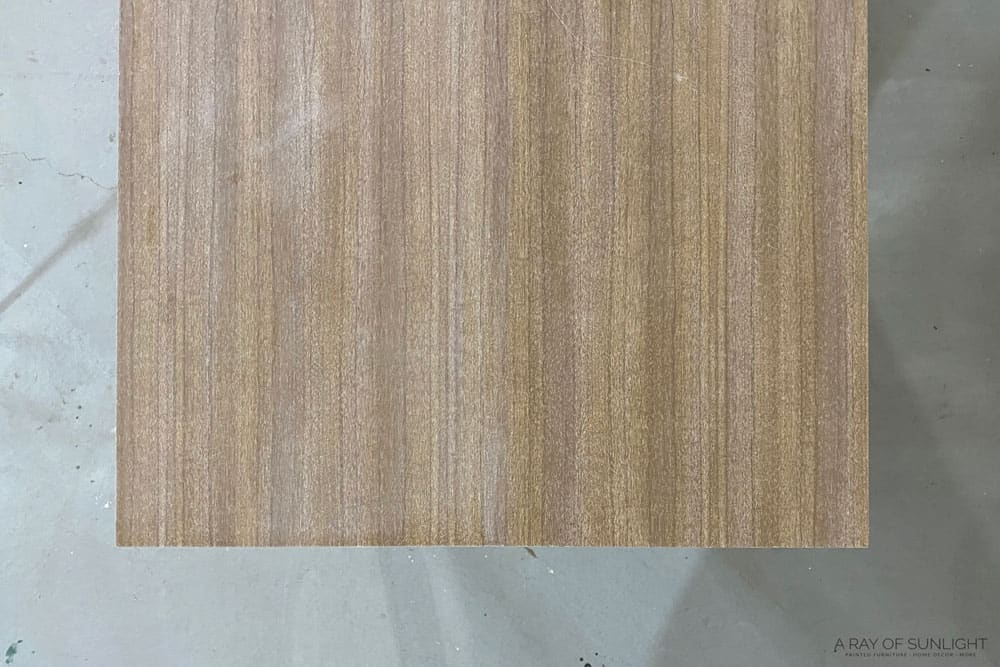 scuff sanded laminate and not sanded laminate
