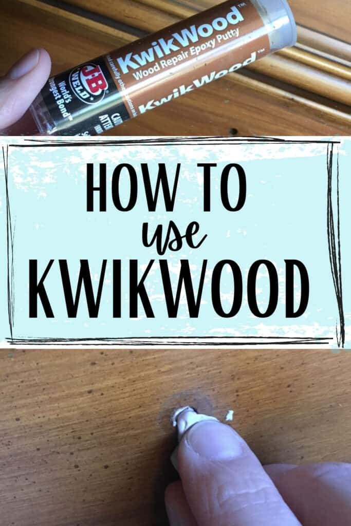 """how to use kwikwood"" and filling in hardware holes with kwikwood"