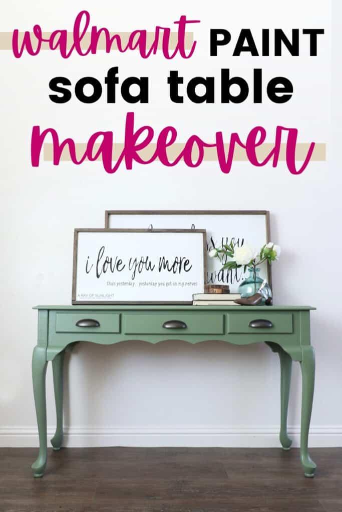 """walmart paint sofa table makeover"""
