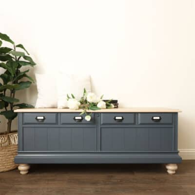 DIY Cedar Chest Makeover with General Finishes Milk Paint