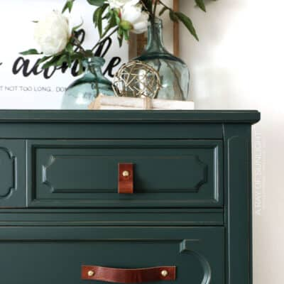 Dark Green Chalk Painted Dresser