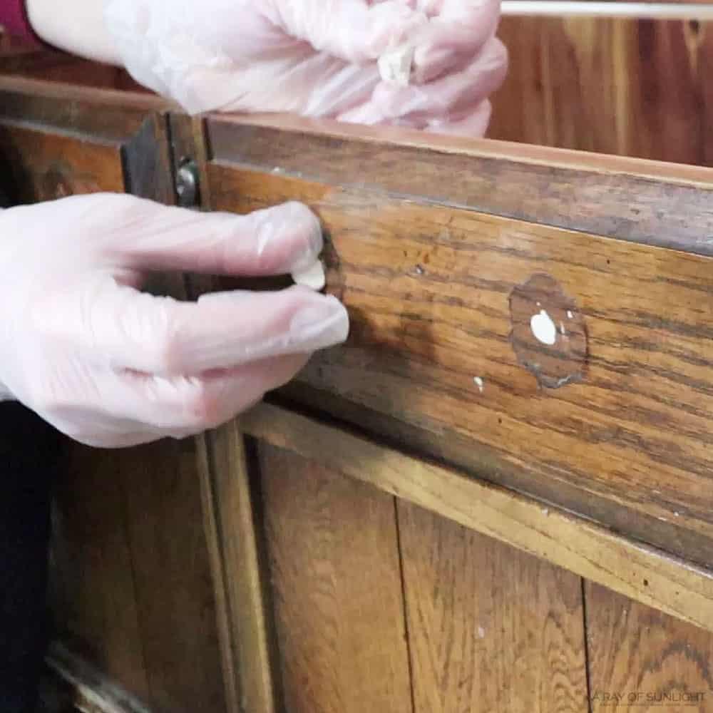 filling hardware holes with kwikwood