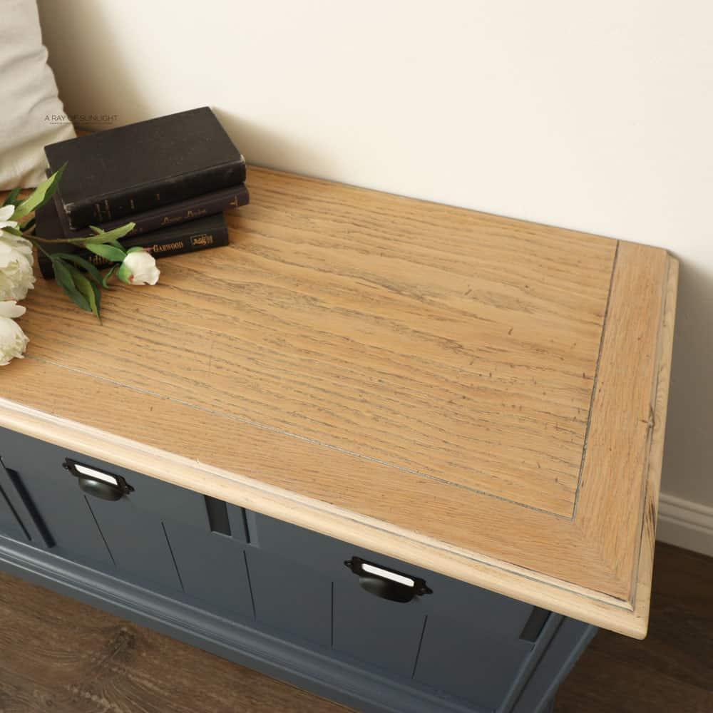 whitewashed cedar chest top