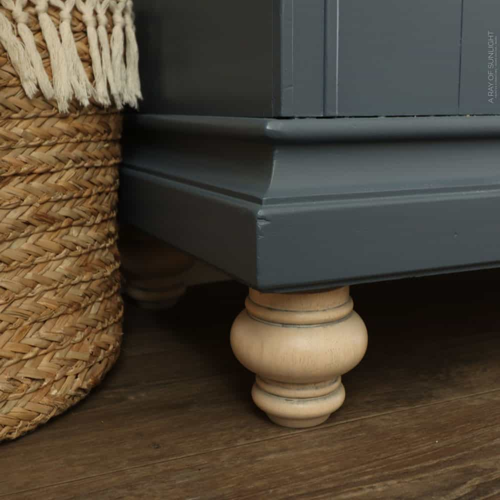 whitewashed wood legs after
