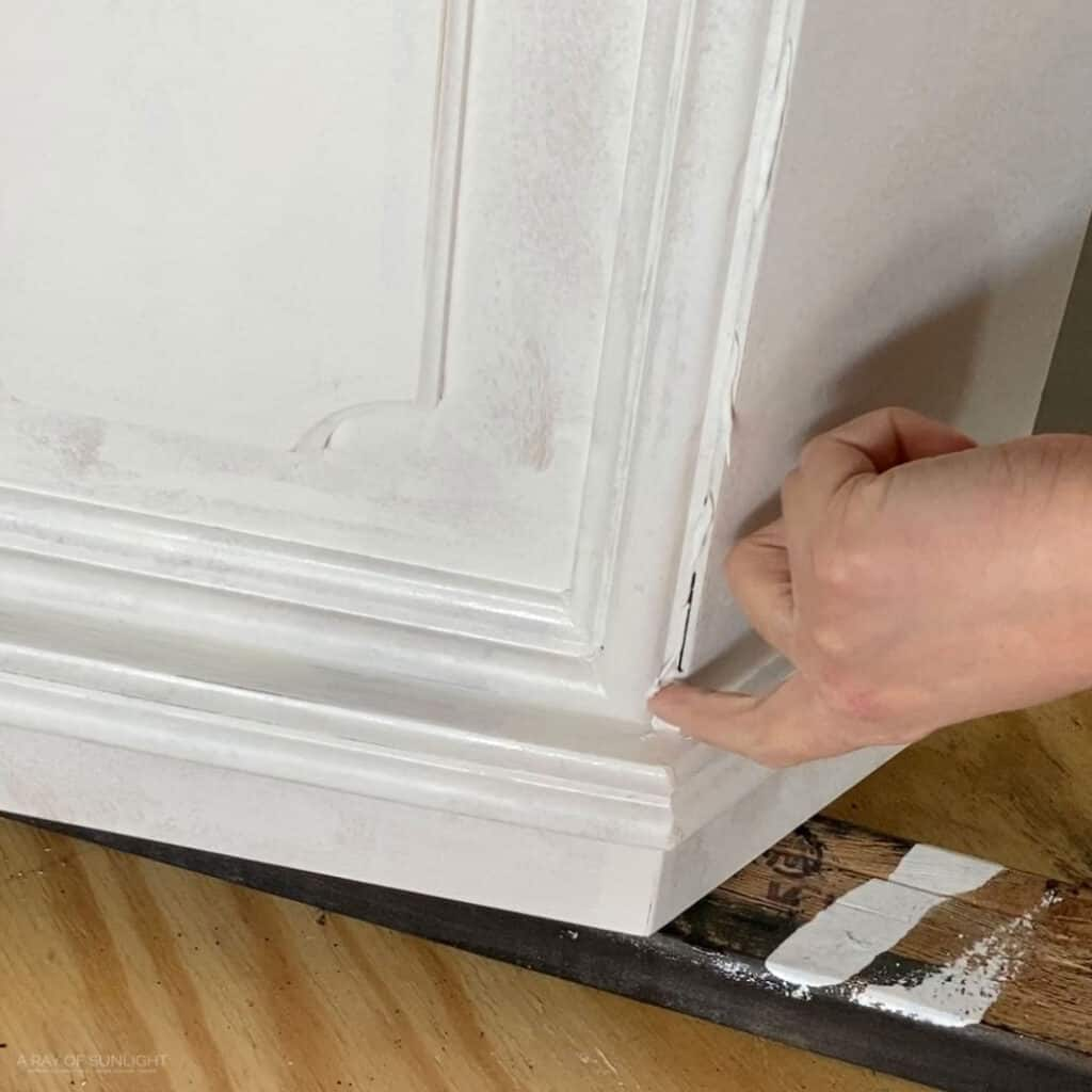 caulking the seams with paintable caulking