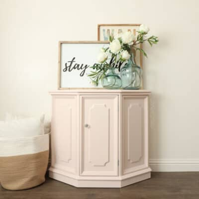 Painted Hallway Cabinet Makeover