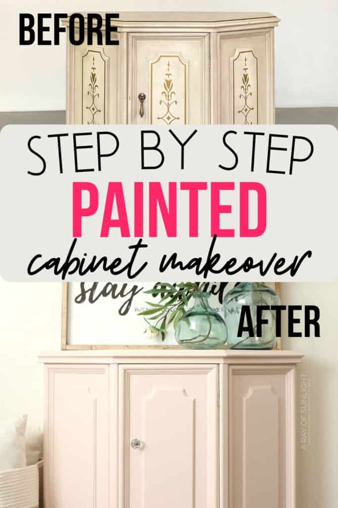 before and after painted cabinet photos