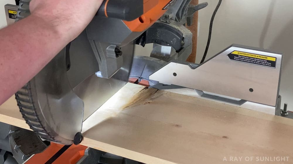 cutting wood for tops of tables