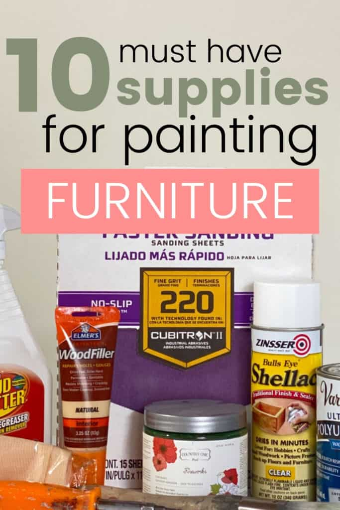 10 must have supplies for painting furniture
