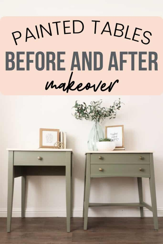 """""""painted tables before and after makeover"""""""