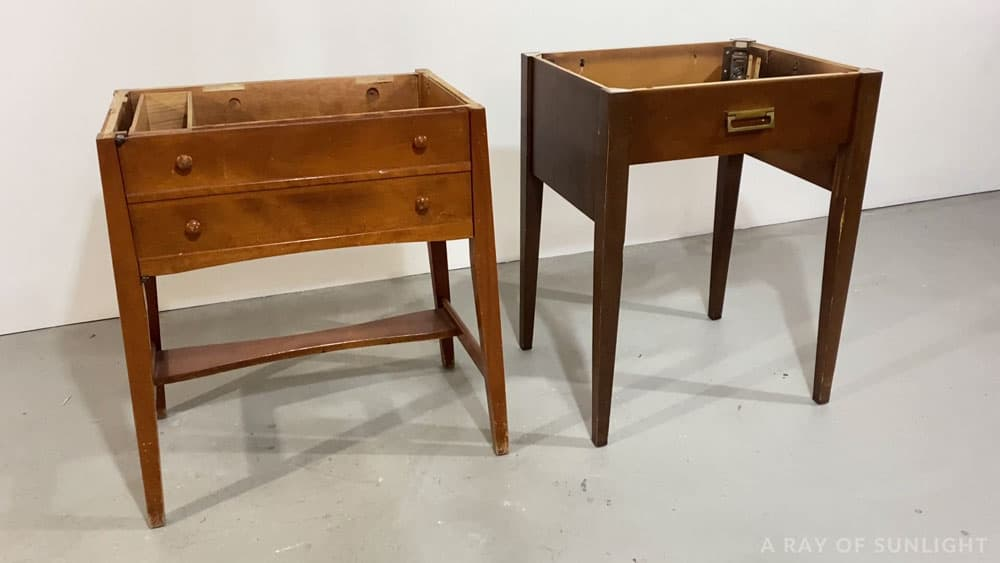 sewing tables with tops removed