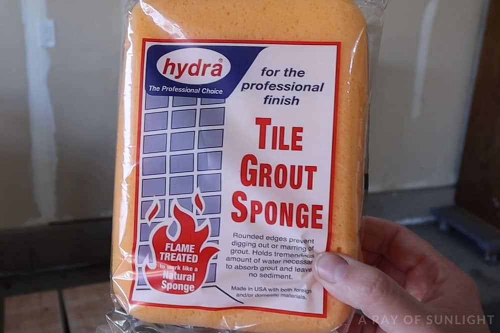 yellow tile grout sponge