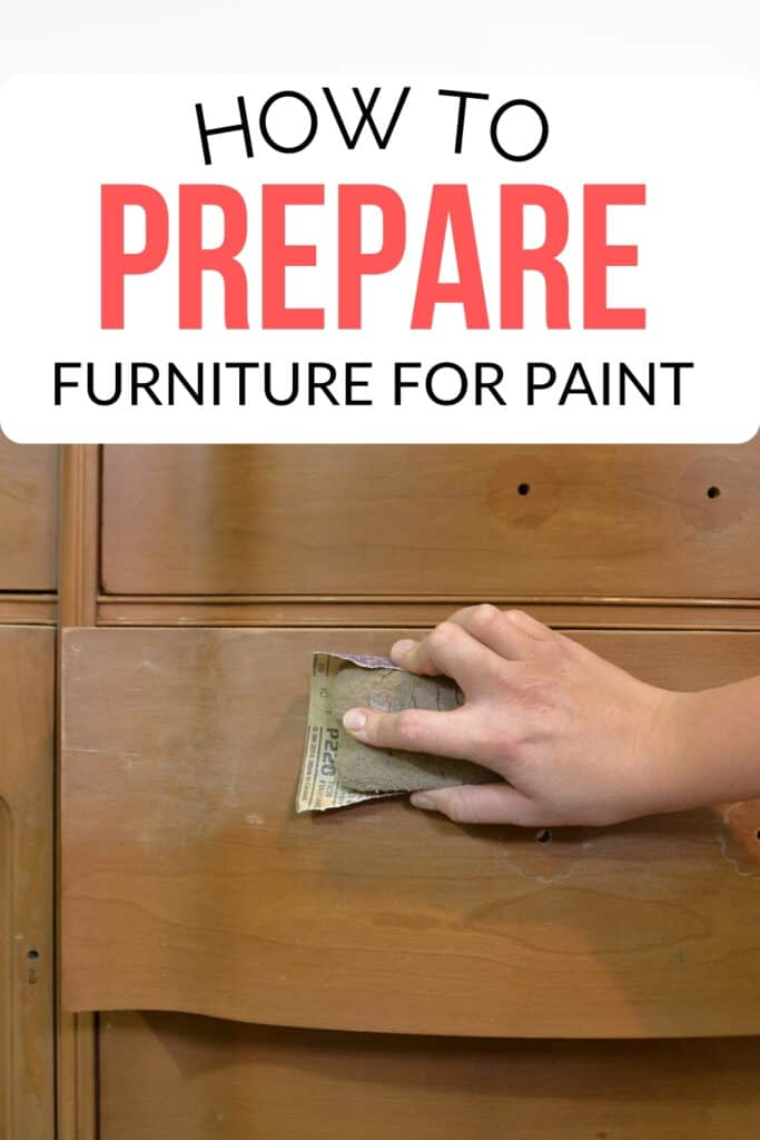 how to prepare furniture for paint