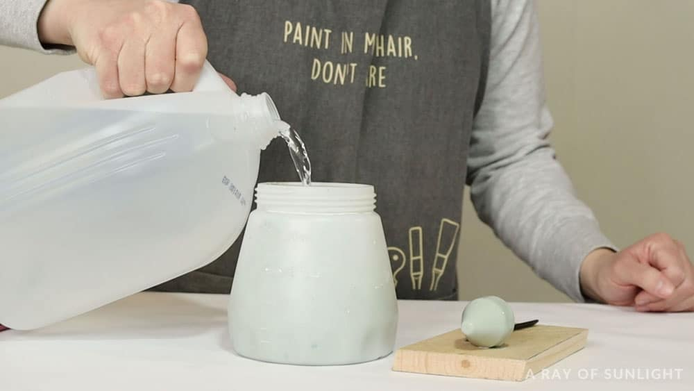 adding water to chalk paint
