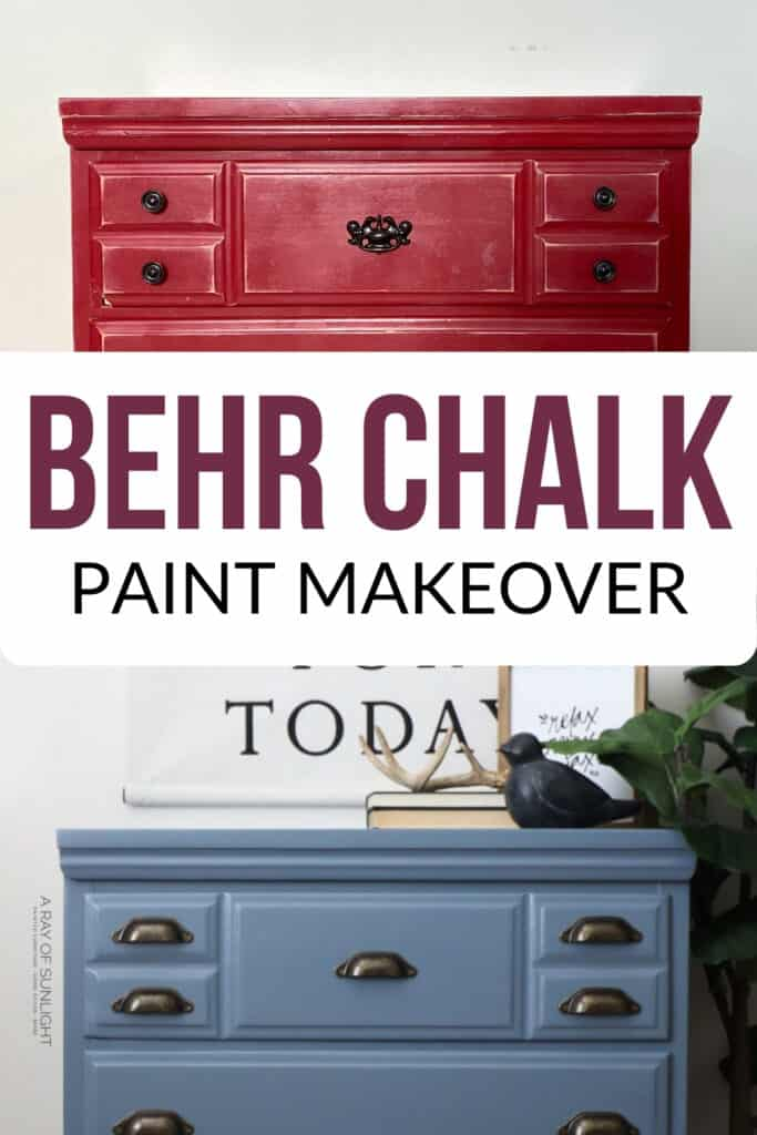 Behr chalk paint dresser makeover