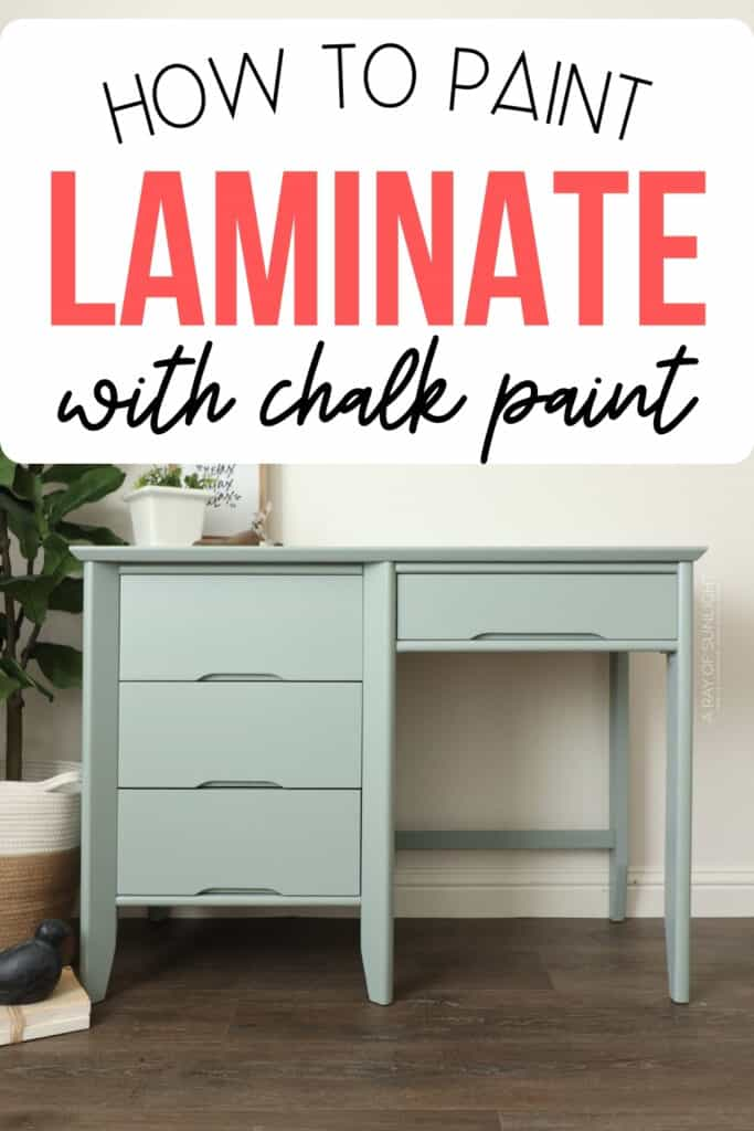 """""""how to paint laminate with chalk paint"""""""