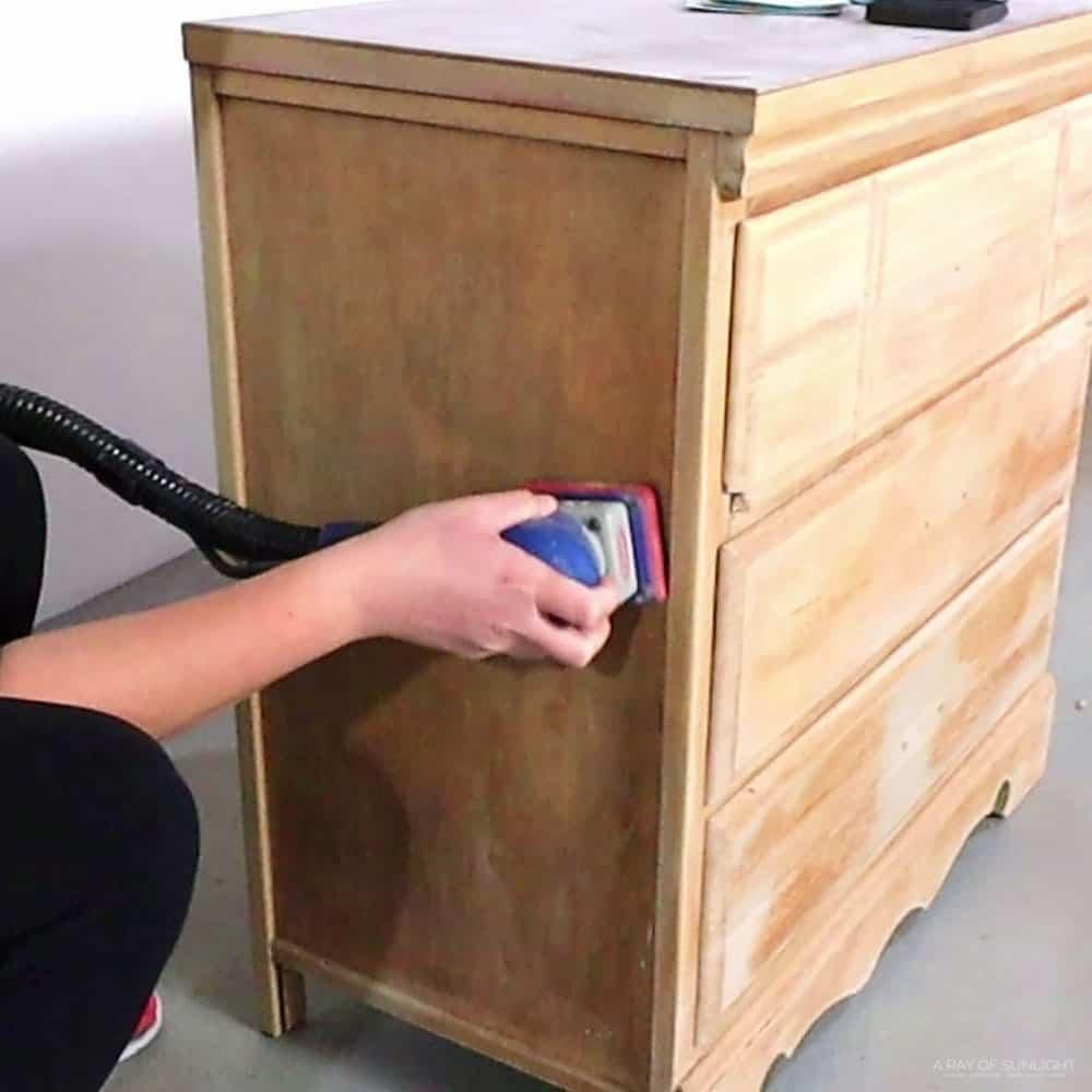 sanding dresser with surfprep sander