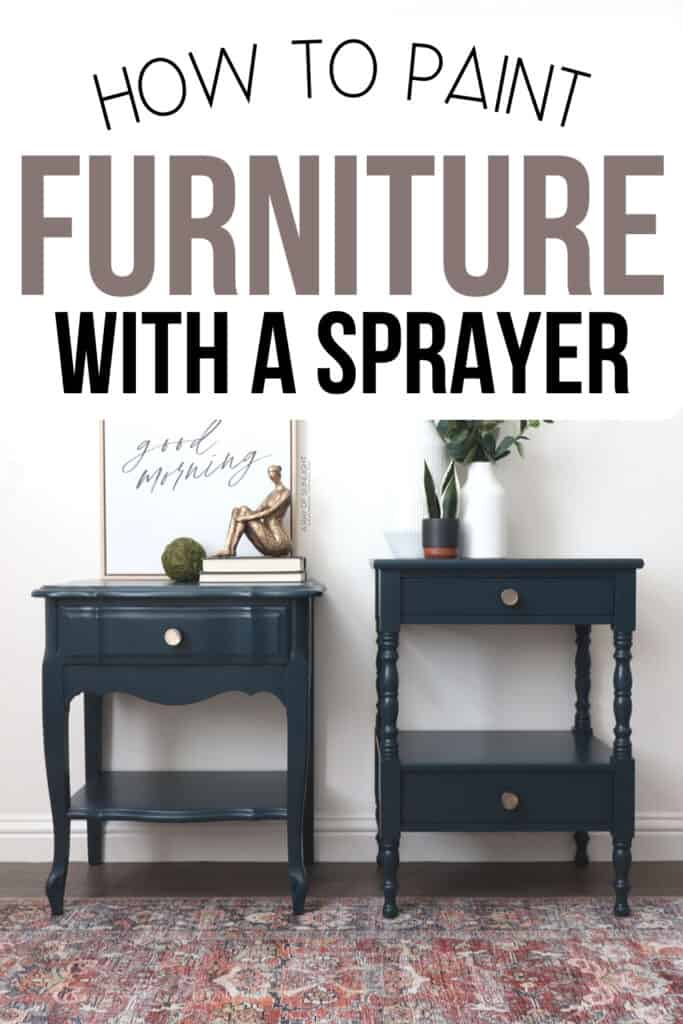 Chalk painted blue mismatched nightstands