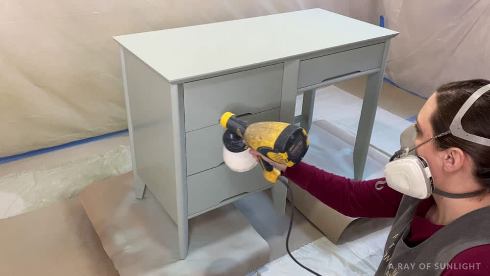 spraying polyurethane with a wagner paint sprayer