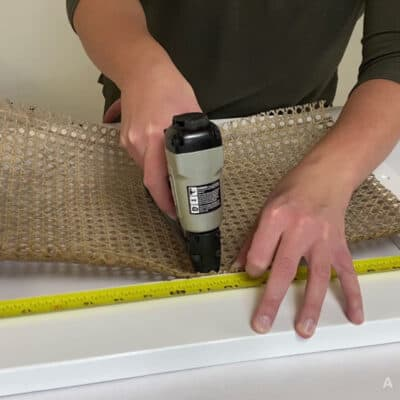How to Install Cane Webbing to a Door
