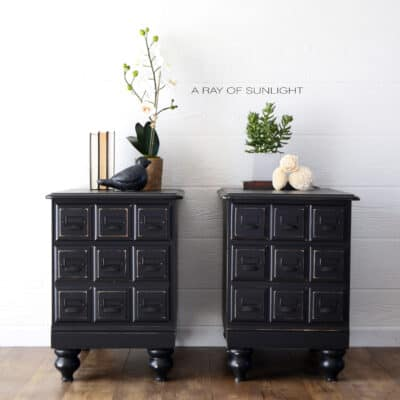 Apothecary Style Vintage Nightstands Makeover