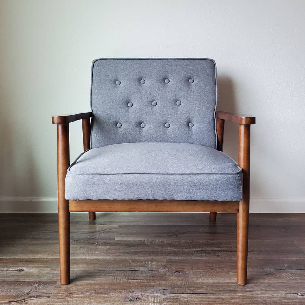 MCM fabric chair makeover