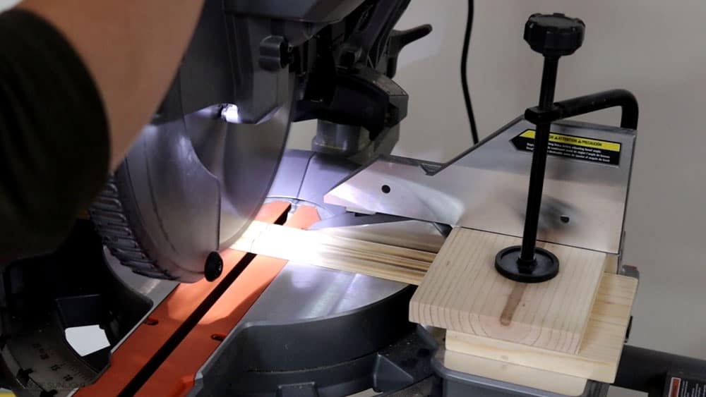 cutting 3 half round dowels with miter saw at one time
