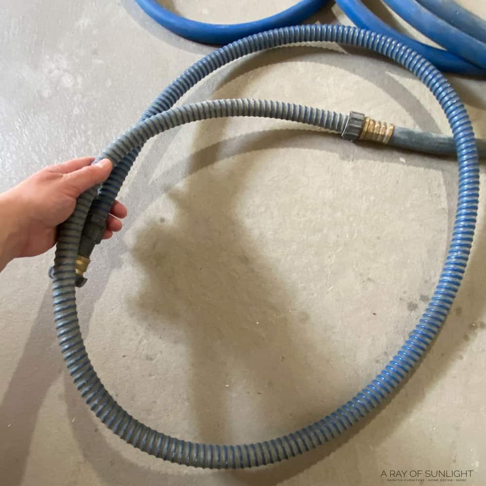 holding the fuji whip hose