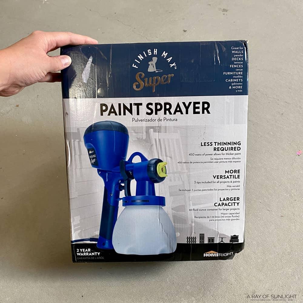 homeright super finish max paint sprayer in a box